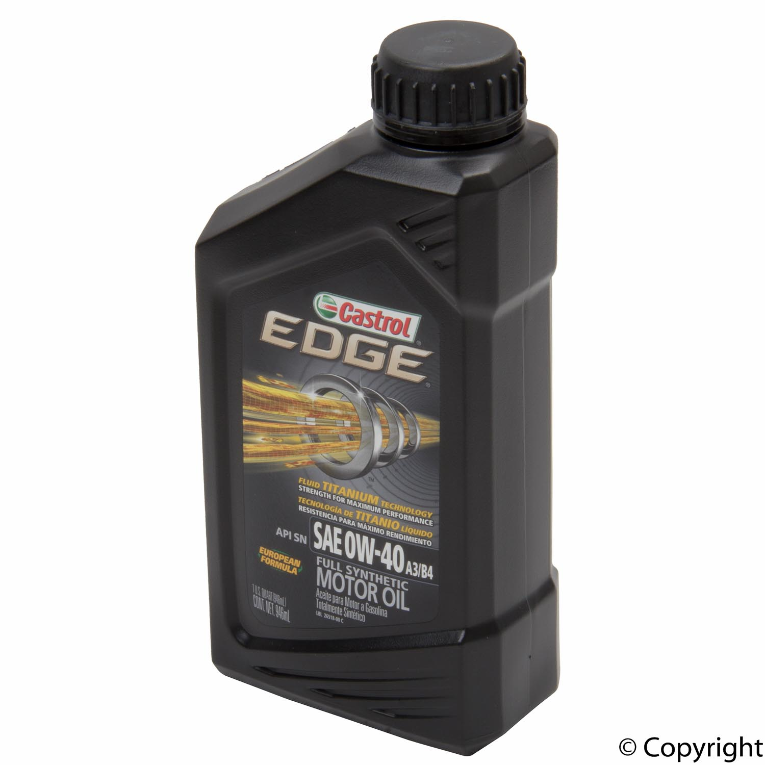 castrol edge 0w 40 full synthetic oil 1qt bottle imparts. Black Bedroom Furniture Sets. Home Design Ideas