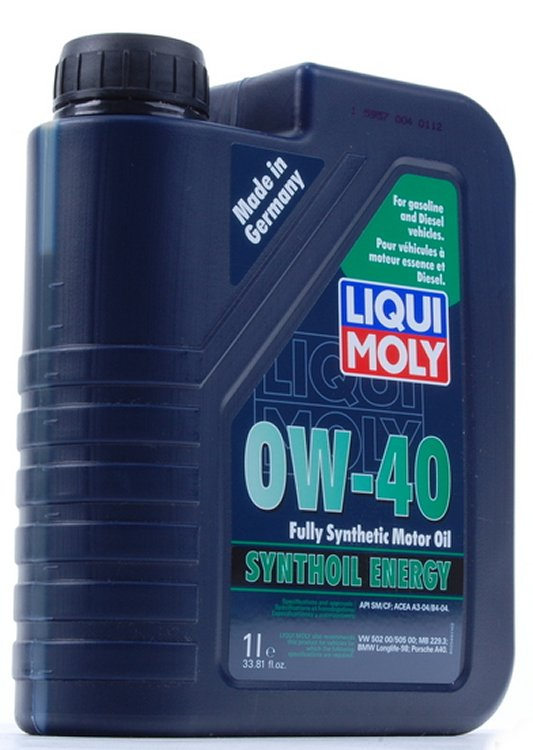 LIQUIMOLY SYNTHOIL ENERGY 0W-40 FULL SYNTHETIC 1 LITER