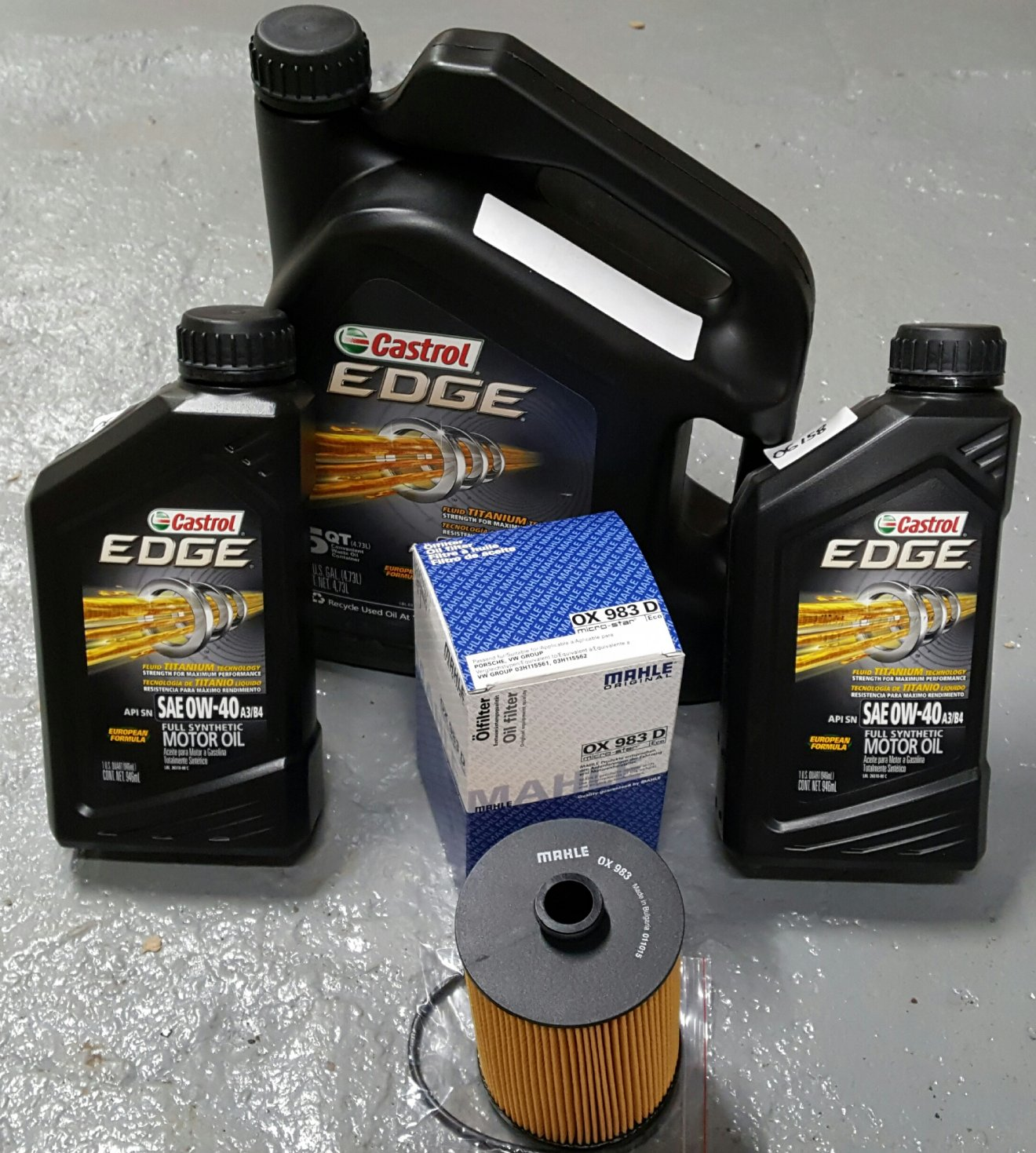 AUDI OIL CHANGE PACKAGES